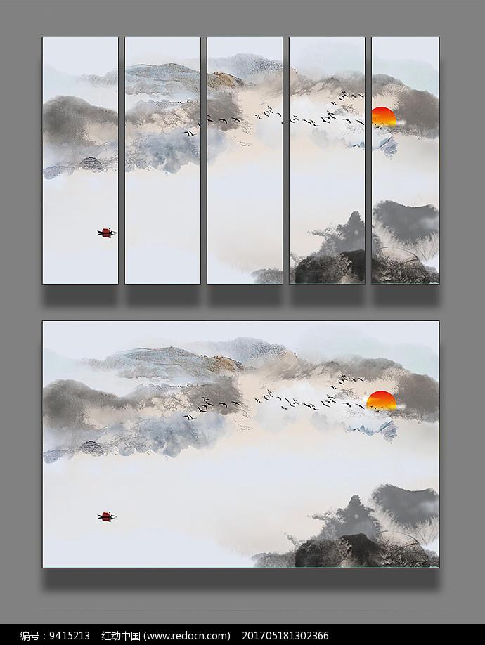 艺术山水国画装饰画图片