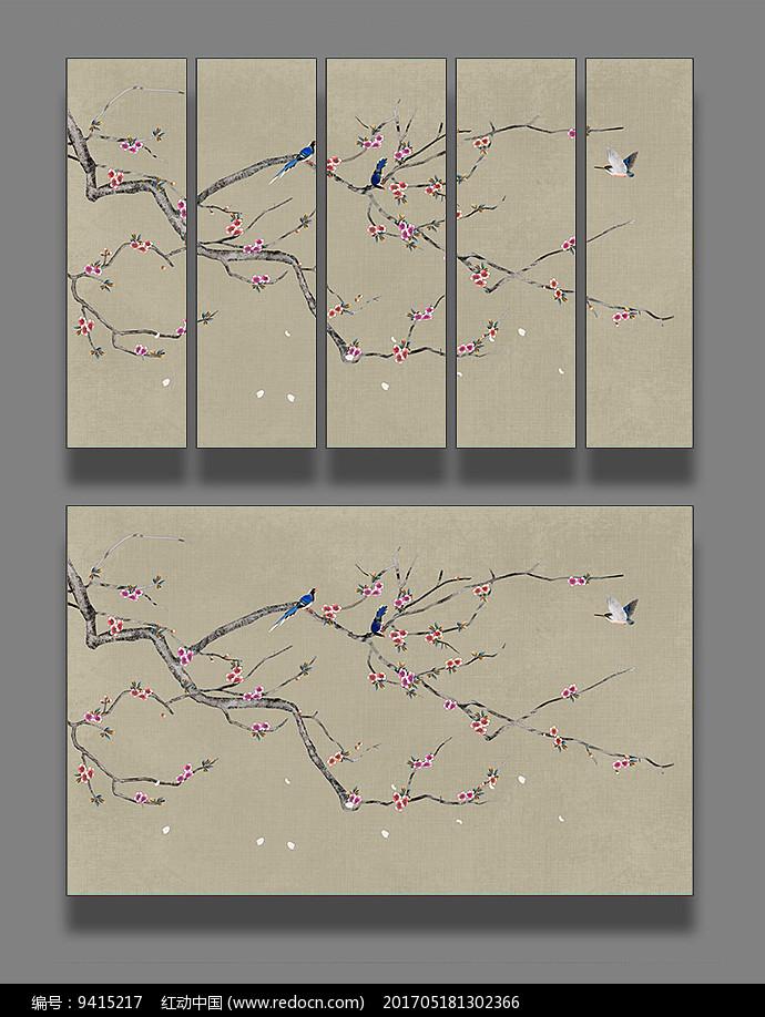 艺术手绘花鸟装饰画图片
