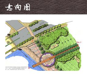 滨海休闲公园入口广场平面图