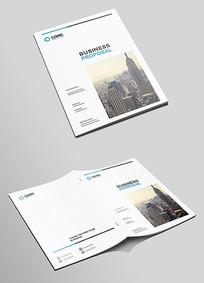 大气科技商务企业画册封面