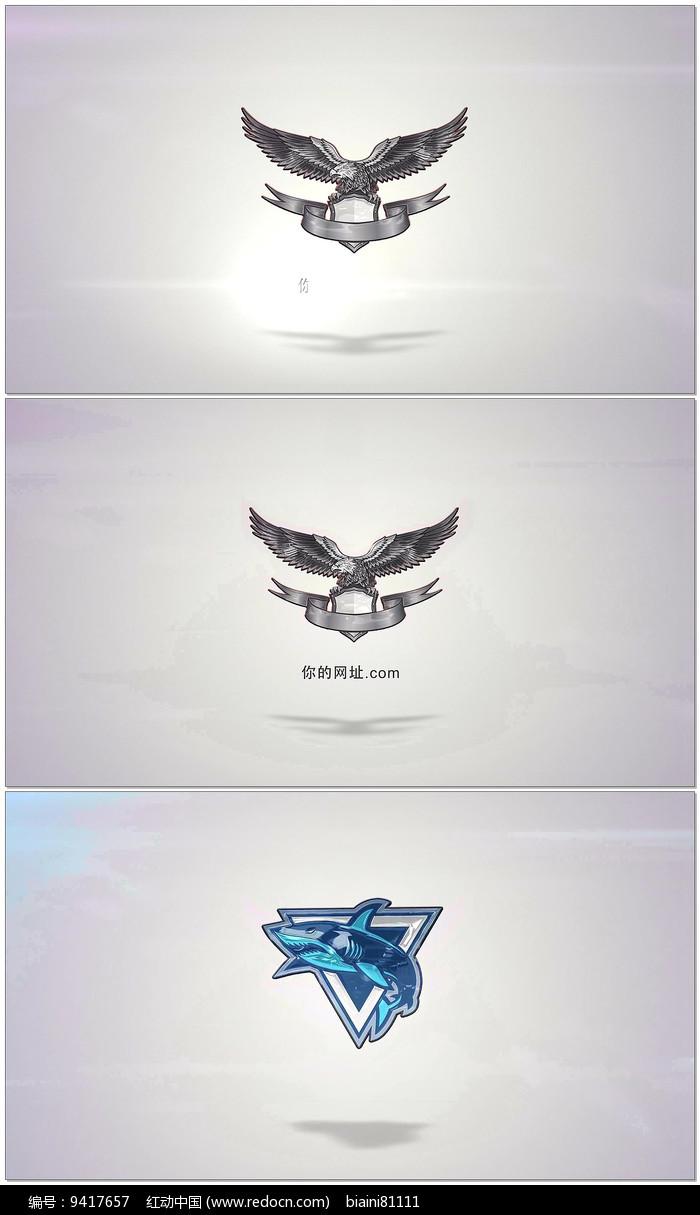 简洁三维logo展示AE模板图片