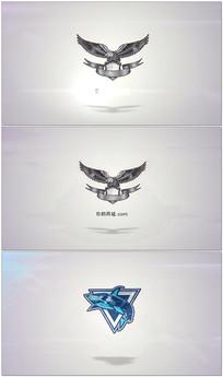 简洁三维logo展示AE模板