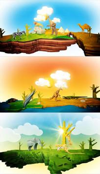 卡通动画动物世界AE模板