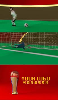 三维建模世界杯卡通AE模板