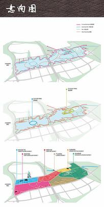 滨水景观分析图