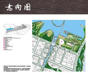 城市文化公园彩色平面图