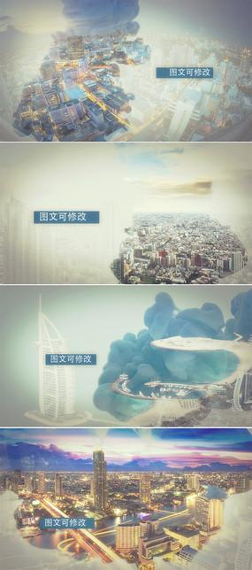 大气水墨城市宣传片ae模板