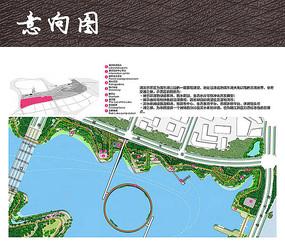 湖滨公园彩色平面图