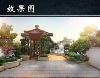 庭院景观设计亭子效果图