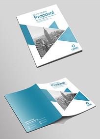 通用蓝色企业宣传画册封面设计