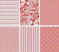 现代卷草底纹图案