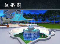 园林喷泉效果图