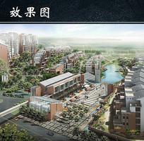 住宅小区商业街鸟瞰图 JPG