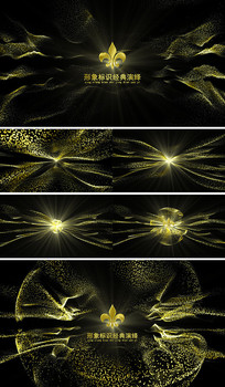 AE经典金色粒子LOGO模板