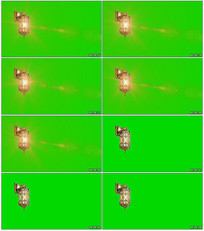 城堡金色灯光绿背视频素材