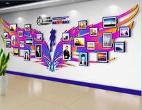 翅膀创意动感团队照片文化墙