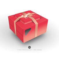 蛋糕盒套装立体效果图