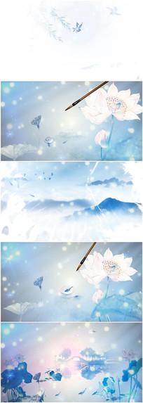 歌曲中国字画舞台背景视频