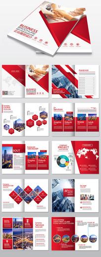 红色大气企业画册宣传册模板