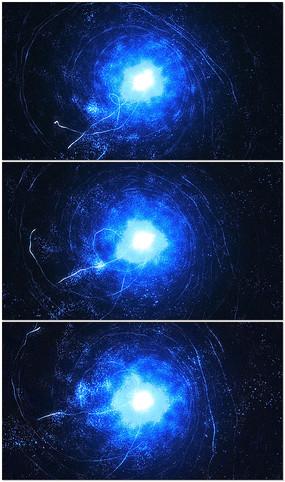 粒子波纹隧道背景视频素材