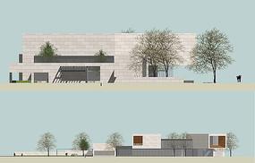 美术馆建筑立面图图片
