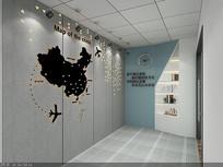 门厅文化墙3D模型
