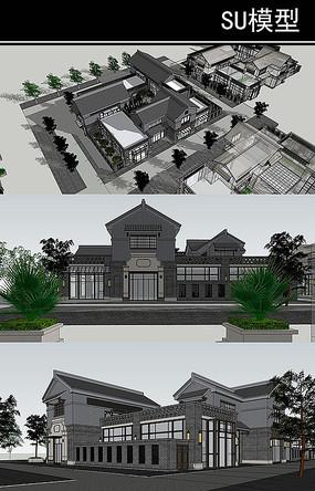 青砖黛瓦的现代中式会所