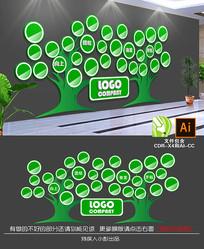 企业校园成长照片树文化墙