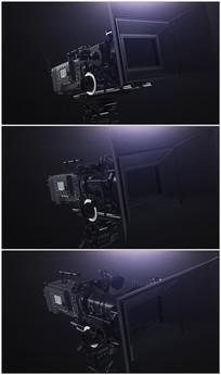 三脚架上的专业摄像机视频素材