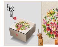 乡音月饼礼盒分层包装设计图