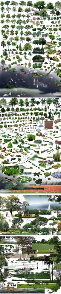 小区园林绿化PSD素材
