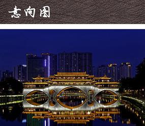 中式商业廊桥建筑