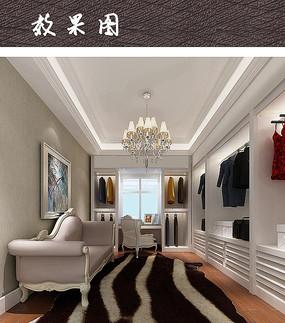 别墅卧室衣帽间设计