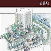 酒店建筑景观鸟瞰图 JPG
