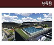 酒店屋顶泳池效果图