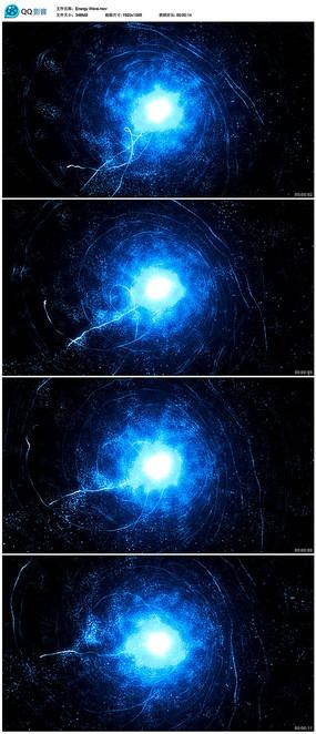 蓝色粒子隧道背景视频