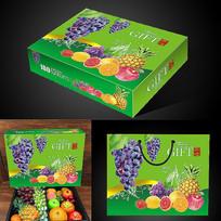 绿色时尚水果礼盒展开图