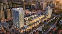 某城市综合购物广场鸟瞰效果图 JPG