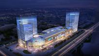 某城市综合商务广场夜景效果图 JPG
