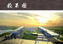 商业文化广场景观效果图 JPG