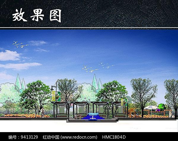 手绘公园效果图图片