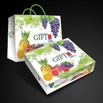 天地盖水果礼盒展开图