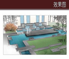 庭院水景效果图