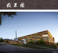 文化活动中心建筑效果图 JPG