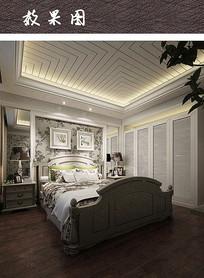 现代白色田园风卧室装修