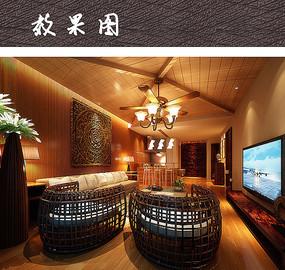 现代客厅软装家具搭配 JPG