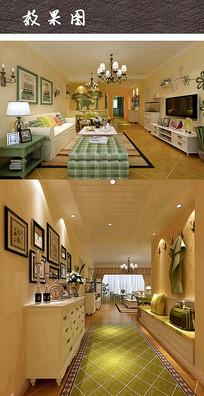 现代清新家装效果图 JPG