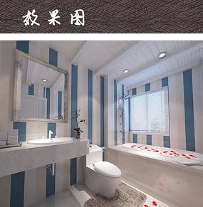 现代卫浴间色彩搭配设计