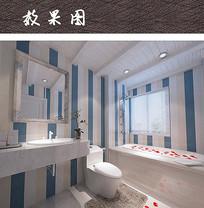 现代卫浴间色彩搭配设计 JPG
