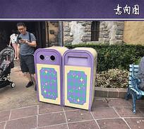 彩色垃圾桶设计意向